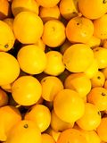 Beautiful yellow natural sweet tasty ripe soft round bright bright tangerines, fruits, clementines. Texture, background royalty free stock photos