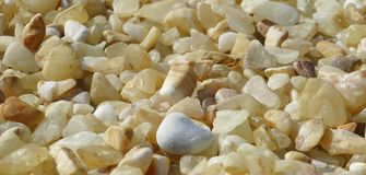 Beautiful yellow pebbles Royalty Free Stock Image