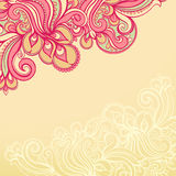 Beautiful yellow and pink pattern Stock Photography