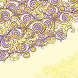 Beautiful yellow and purple pattern Stock Photo
