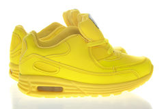 Beautiful Yellow Shoes. Isolated Royalty Free Stock Photography