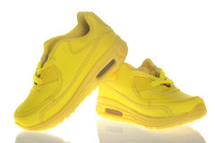Beautiful Yellow Shoes. Isolated Stock Image