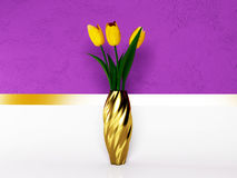 Beautiful yellow tulips Stock Images