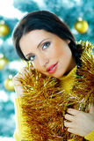 Beautiful Yellow Xmas Royalty Free Stock Photos