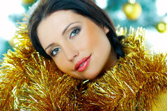 Beautiful Yellow Xmas Stock Photo