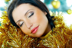 Beautiful Yellow Xmas Stock Image
