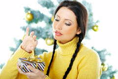 Beautiful Yellow Xmas Royalty Free Stock Image