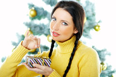 Beautiful Yellow Xmas Royalty Free Stock Photography