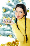 Beautiful Yellow Xmas Stock Images