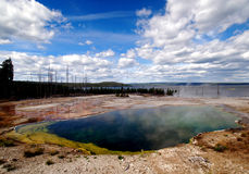 Beautiful Yellowstone Hot Springs Royalty Free Stock Images