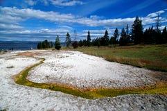 Beautiful Yellowstone Hot Springs Stock Photography