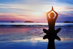 Beautiful yoga background stock image