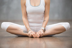 Beautiful Yoga: butterfly pose Royalty Free Stock Photography