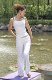 Beautiful yoga girl Royalty Free Stock Photography