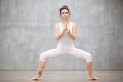 Beautiful Yoga: Goddess pose Royalty Free Stock Photo