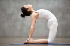 Beautiful Yoga: ushtrasana pose Stock Photo