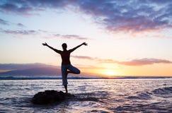Beautiful Yoga woman Royalty Free Stock Image