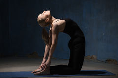 Beautiful Yoga Woman Doing Ustrasana Pose Royalty Free Stock Photo