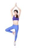 Beautiful Yoga woman soprting Royalty Free Stock Photography