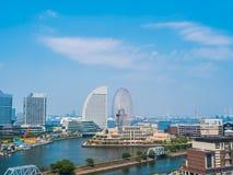 Beautiful Yokohama skyline city in japan royalty free stock photos