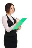 Beautiful yong businesswoman Stock Photos