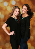 Beautiful young adult females royalty free stock photo