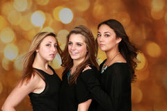 Beautiful young adult females stock image
