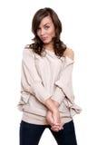 Beautiful young adult girl posing in studio Stock Photo