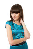 Beautiful young adult girl posing in a studio Royalty Free Stock Photos