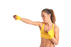 A beautiful young aerobics instructor Royalty Free Stock Photography