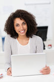 Beautiful young African American businesswoman Stock Photos