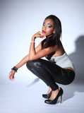 Beautiful Young African American Fashion Model Royalty Free Stock Photos