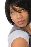 Beautiful Young African American Female Headshot Stock Images