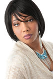Beautiful Young African American Female Headshot Royalty Free Stock Photography