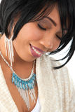 Beautiful Young African American Female Headshot Royalty Free Stock Photo