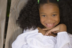 Beautiful young African American little girl. royalty free stock image