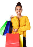 Beautiful young african american shopper Royalty Free Stock Image