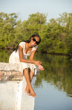 Beautiful Young African American Woman Stock Photography
