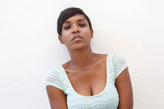 Beautiful young african american woman with short hair Royalty Free Stock Image