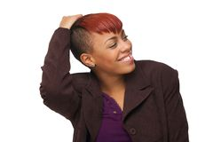 Beautiful Young African American Woman Smiling Stock Photography