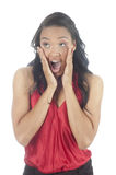 Beautiful young african american woman surprised Royalty Free Stock Photos