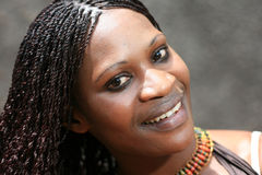 Beautiful Young African Woman Royalty Free Stock Photography
