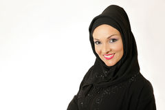 Beautiful young arabic woman. Looking to the camera Royalty Free Stock Image