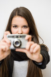 Beautiful young artist. Royalty Free Stock Photo