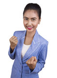 Beautiful young Asian business woman are very happy. Stock Photos
