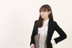Beautiful young asian businesswoman Stock Photos