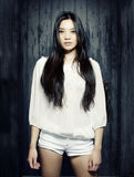Beautiful young Asian model Stock Image