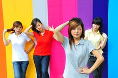 Beautiful Young Asian Teenage Girls Royalty Free Stock Photo