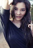 Beautiful young Asian woman Stock Photography