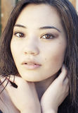 Beautiful young Asian woman Stock Images